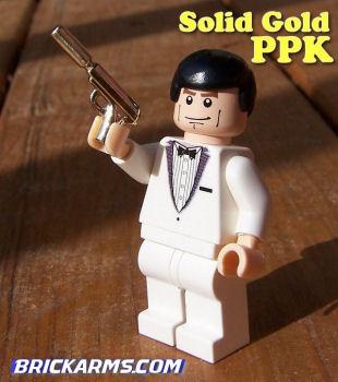 Lego Waffe aus echtem Gold