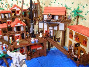 Booty Bay aus Lego nachgebaut